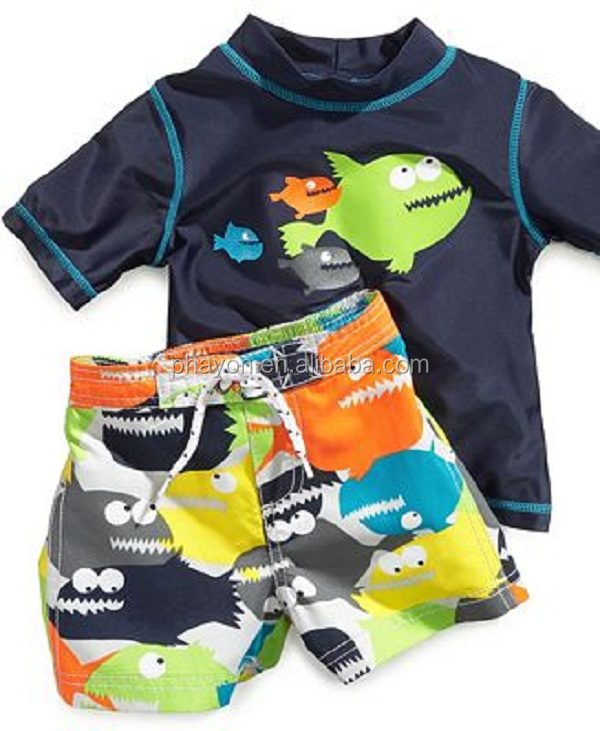OEM&ODM breathable UPF 50+ UV fish Boys Rash Vest