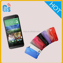 China Goods Wholesale Tpu S Line Wave Case Cover For Htc One M8 Eye