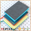 Recycled Pu cover notebook diary book with colored edge paper