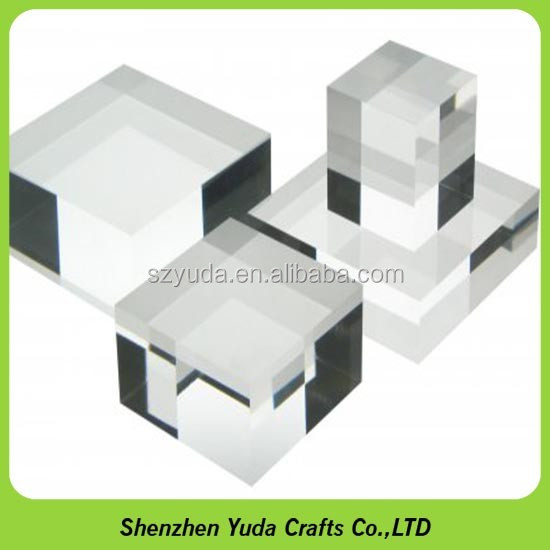 acrylic mineral stands acrylic Display Base for mineral specimens clear mineral display block