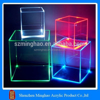 Lighted acrylic cake box, acrylic cake stands with lights stand
