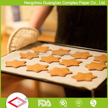 Ovenable Silicone Coated Parchment Paper for Baking Trays or Cake Tins