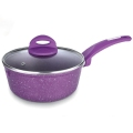 2018 cheap pressed aluminum saucepan/ color nonstick pot