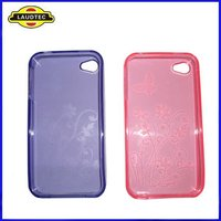 Stylish,Butterfly Flower Pattern TPU Gel Case for iPhone 4/4s,Beautiful Soft Case Cover,Fast delivery----Laudtec