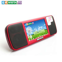 Portable hi-fi touch screen fm radio mini digital video speaker