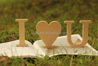 Wooden arts and crafts customized MDF alphabet letter