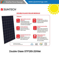 Double Glass SUNTECH 260w POLY 60 cell 255w 260W 265W solar panel with price per watt
