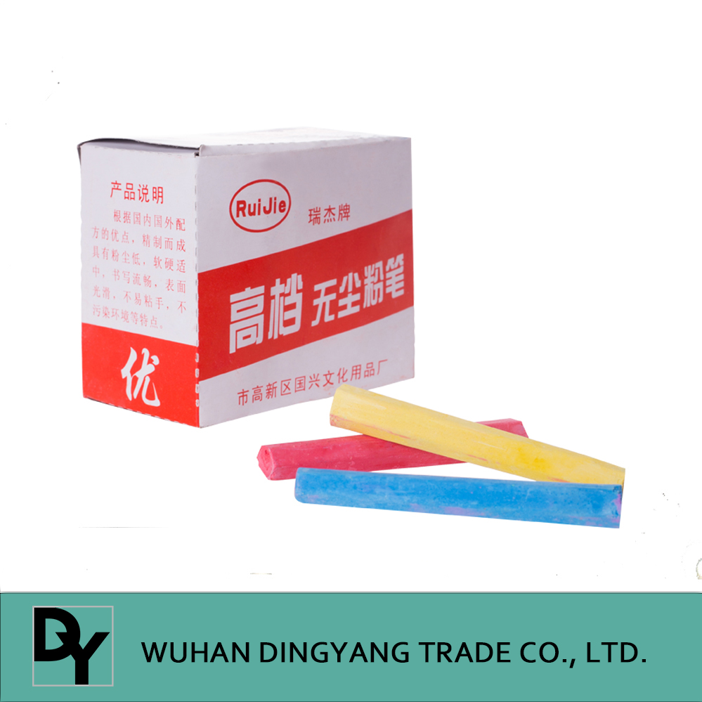 High quality hexagon dustless White chalk