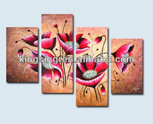 pictures abstract paintings of prosperous flower canvas paintings