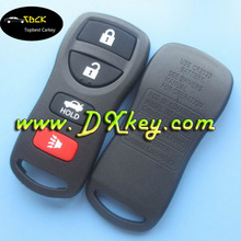 Hot sale 3+1 buttons remote key fob for Nisan Tiida remote key nisan smart key
