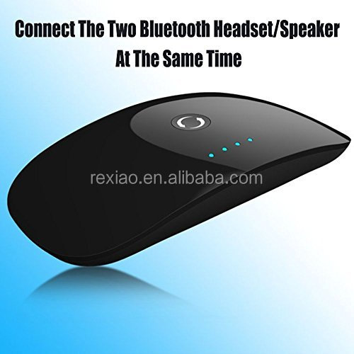 2 in 1 Wireless 4.0 Audio Transmitter and Receiver - Support Two Bluetooth Headphones Or Speakers Simultaneously for TV,CD, iPod