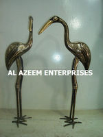Best Quality Beautiful Stork Bird Pair Brass Made Crafts Pakistan For Home Office Decor & Gift / Brass handicrafts / Best Gift