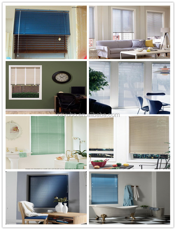 hot sale white 25mm aluminum slats for conservatory venetian blinds