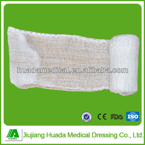 Sterile compression type medical fluffy gauze bandage