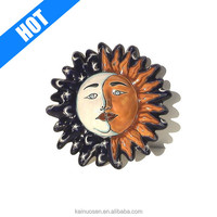 factory supply moon talavera ceramic sun face