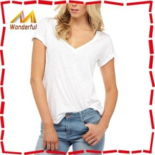 Top Sale!! New Fashion V Neck Girls Sexy T Shirt