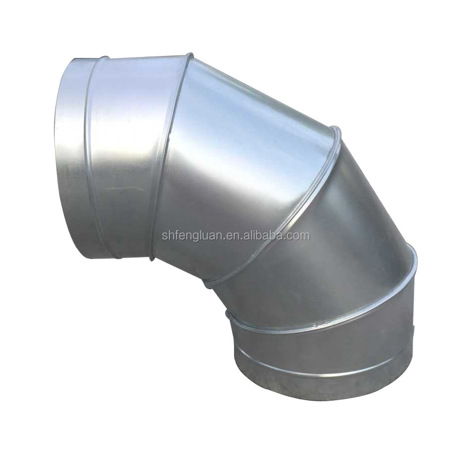 Air ventilation system galvanized steel 90 degree elbow
