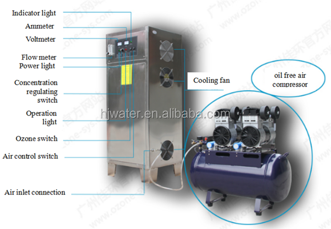 Pure Water Treatment Equipment For Medical Ozone Generator Water Plant