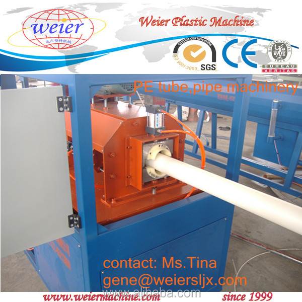 ppr cold hot water pipe extruder line, plastic pe ppr pipe production line 16-63mm one layer three layers