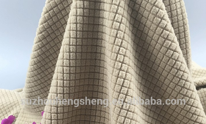 warm polyester hacci knit fabric for gament