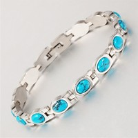 New arrival ladies magnetic bracelet jewelry made in turkey turquoise