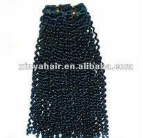 2012 hot sell in USA and EU 100% Human hair extensions for black hair