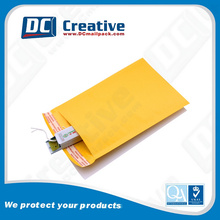 Custom Design Widely Use Gold Kraft Envelope With Kraft Bubble