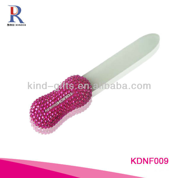 Crystal glass nail file, mini nail file