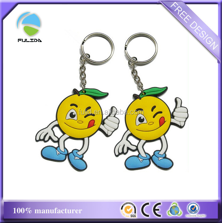 Wholesale Cartoon Show Full Colors Rubber Soft PVC Key Chain