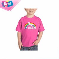 Kids Printing T-Shirt Custom Children Rainbow T Shirts Basic Style O Neck Tee Tops Wholesale for Baby Toddler Big Kid