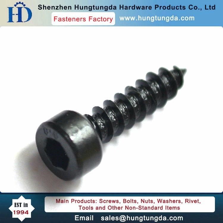 hexagon socket head cap button head self-tapping screw black color