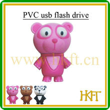 2/4/8/16/32gb bear design usb flash driver with secure storage