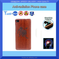 Hot Sell New Design Super Thin Colorful Cell Phone Case For Anti-Radiation P8 Wooden