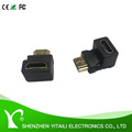 HDMI Right Angle Adapter Male to Female With Gold-Plated connectors(HDMI 90 Degree)