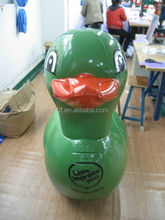 inflatable water duck rider/pvc inflatable swimming duck rider for kids