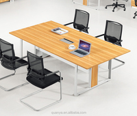 Wood top meeting table/melamine office desk/Metal legs office frame table