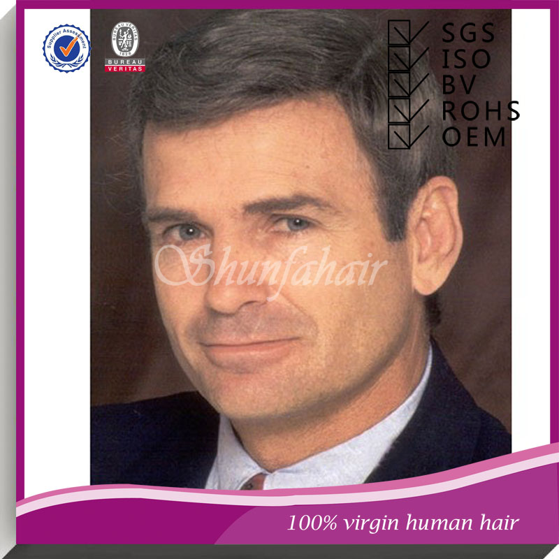 Cheap toupee for men,toupee for men,bleach knotting brazilian hair men toupee shunfa hair factory