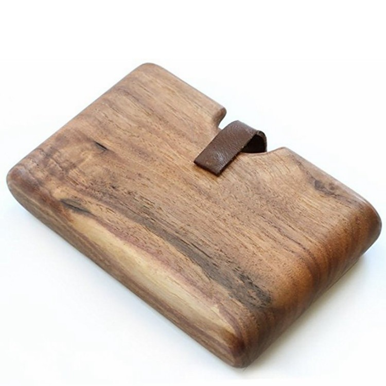 men's wood wallet