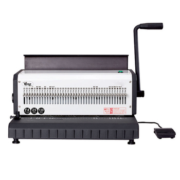 40 Holes Electric Heavy Duty 3:1 Wire Binding Machine With Wire Closer, 130 Sheet Paper Binder Puncher Scrapbook Office