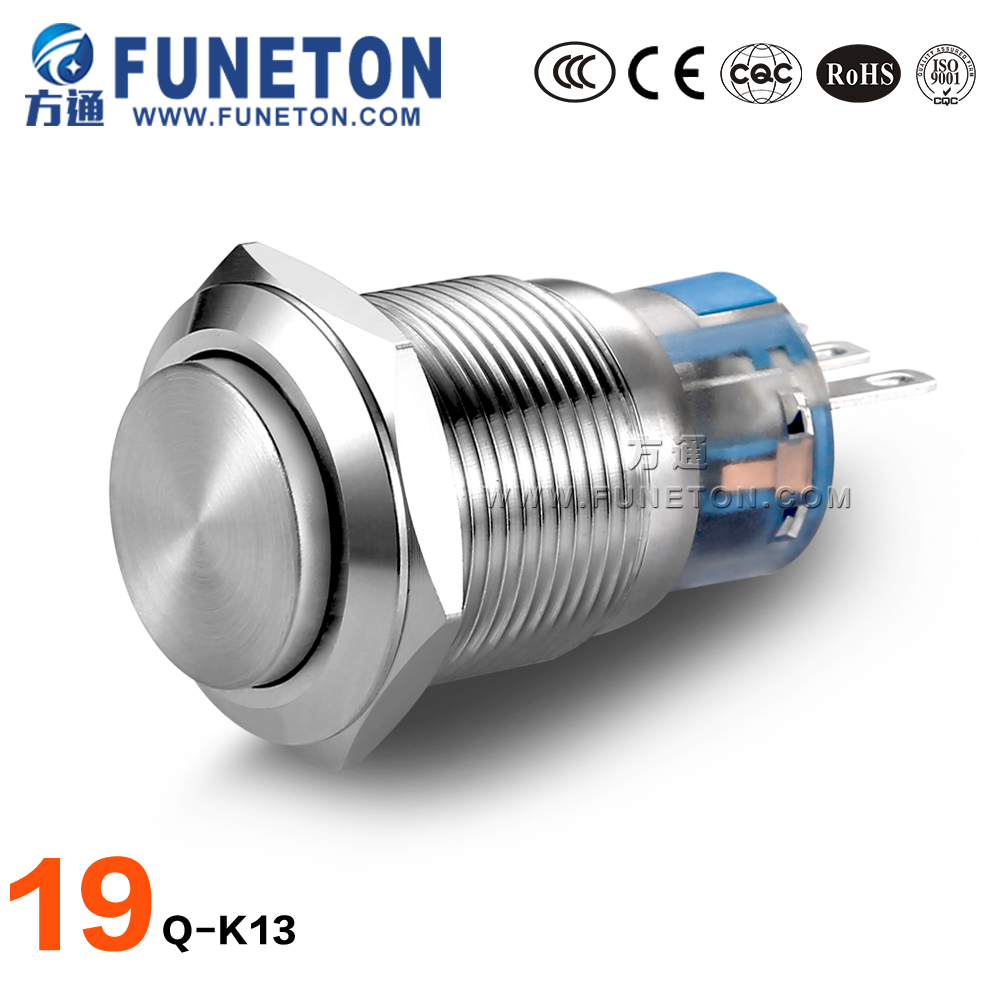 High safety performance mechanical push button switch ip65