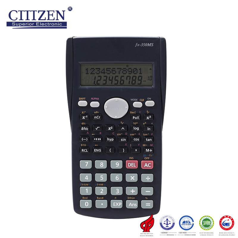 FX-350MS Hot sales mini 2 line display multifunctions scientific calculator