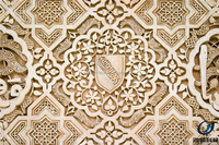 2016 islamic building material 3d carved stone fire resistant decorative wall panel
