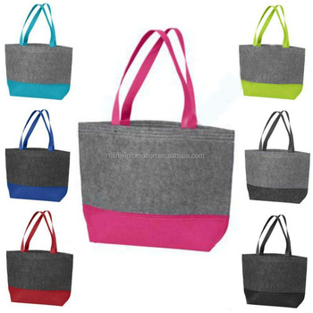 shopping bag /felt grow bag with handles