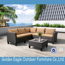 Modern on line SALE FURNITURE PE rattan KD outdoor sofa