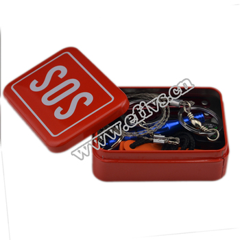2016 new products portable camping equipment SOS survival tin kit for Camping, Hiking,Climbing and Emergency
