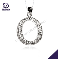 Simple style rhodium plating twist design unisex magatama pendant