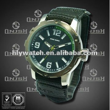Watch Men Big Face and Strap with Japan Movement HK-192