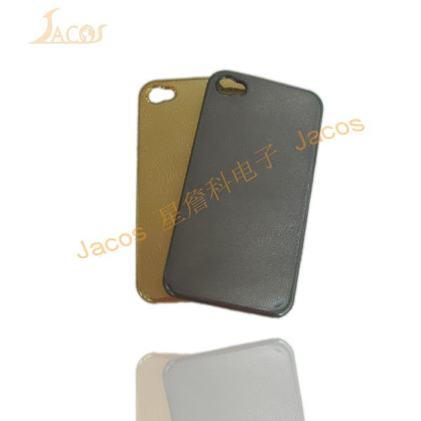 electroplate PC case for iphone 4 with droplet