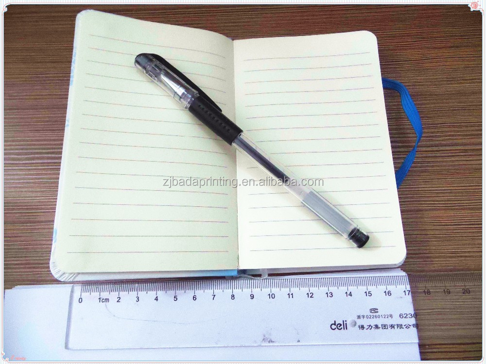 Promotional Elastic Band Notebook/ Custom Notebook With Ribbon Marker
