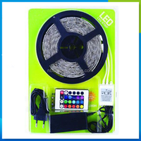 Christmas gift!! DC12V Flexible led strip waterproof ip65 5m rgb led strip set 5050